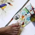 معرض فني خاص في سنغافورة ضم أكثر من 200 لوحة تم رسمها من قبل فنانين من ذوي الاحتياجات الخاصة بالفم والقدم          شارك الموضوع على الفيس بوك وتويتر :