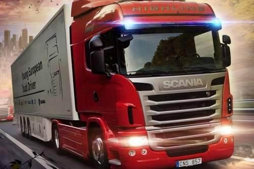 bilde تحميل لعبة سباق الشاحنات سكانيا تراك مجانا Scania Truck Driving
