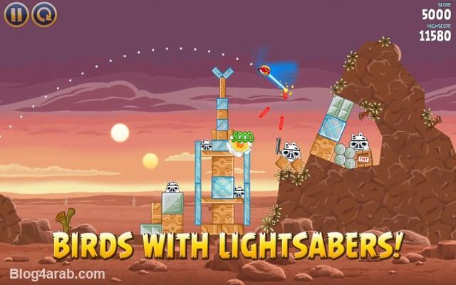 تحميل لعبة الطيور الغاضبة حرب النجوم Angry Birds Star Wars