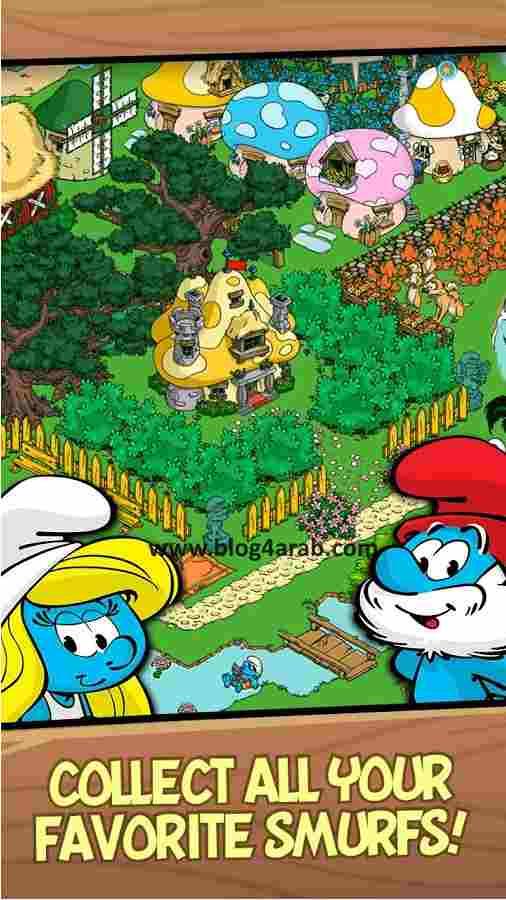 تنزيل لعبة smurfs village
