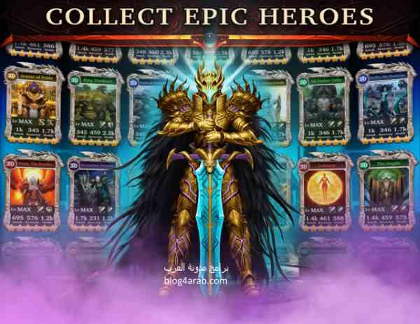 تحميل وتنزيل العاب للاندرويد لعبة حرب الابطال الاسطورية برابط واحد