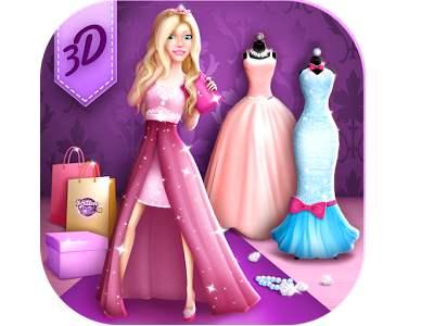 تحميل العاب تصميم فساتين باربي على الموضة للموبايل Dress Designer