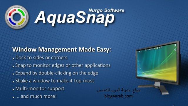 تنزيل برنامج ترتيب رموز سطح المكتب على الكمبيوتر Aquasnap