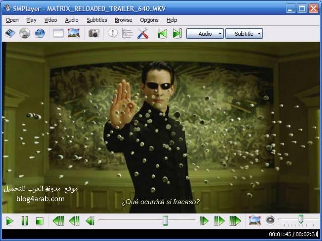 تحميل أفضل برنامج مشغل الفيديوهات والافلام بدقة عالية SMPlayer
