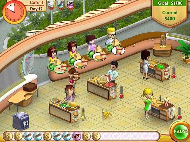 العاب بيع البرجر في المطعم
